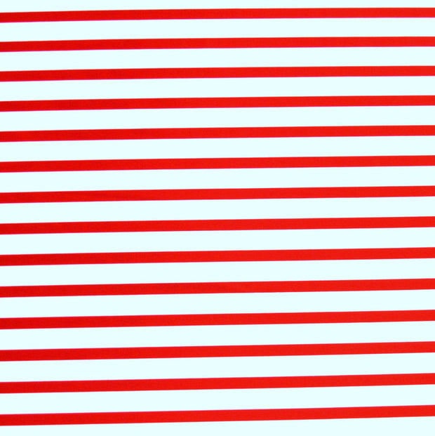 Red/White Candy Cane Stripe Nylon Lycra Swimsuit Fabric