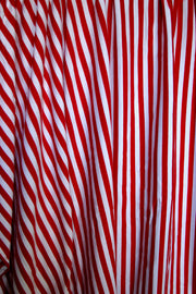 Red and White Stripes Cotton Lycra Jersey Knit Fabric