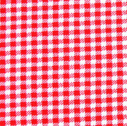 Red and White Gingham Knit Fabric