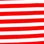 Red and White Stripe Nylon Lycra Swimsuit Fabric