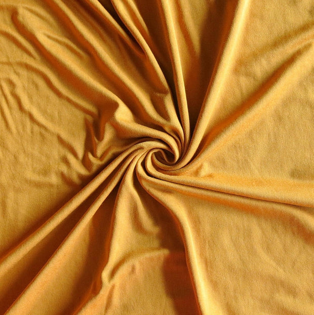 Retro Gold Bamboo Lycra Jersey Knit Fabric
