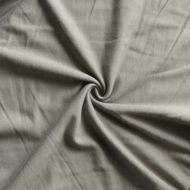 Rhino Grey Bamboo Cotton Lycra French Terry Fabric