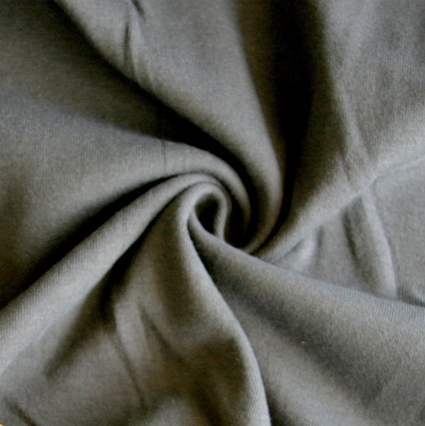 Dark Slate Grey Cotton Rib Knit Fabric