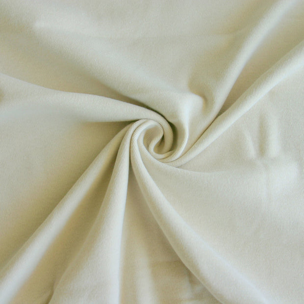 Khaki Cotton Rib Knit Fabric