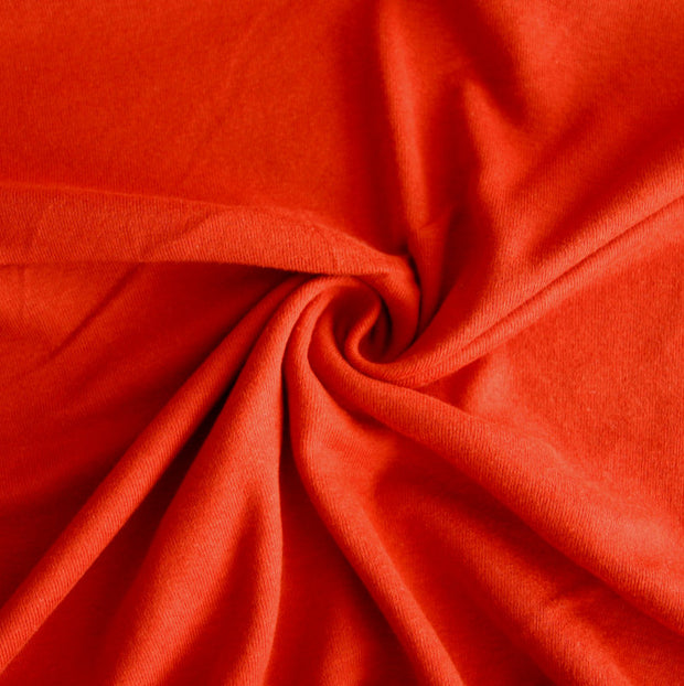 Red/Orange Cotton Rib Knit Fabric