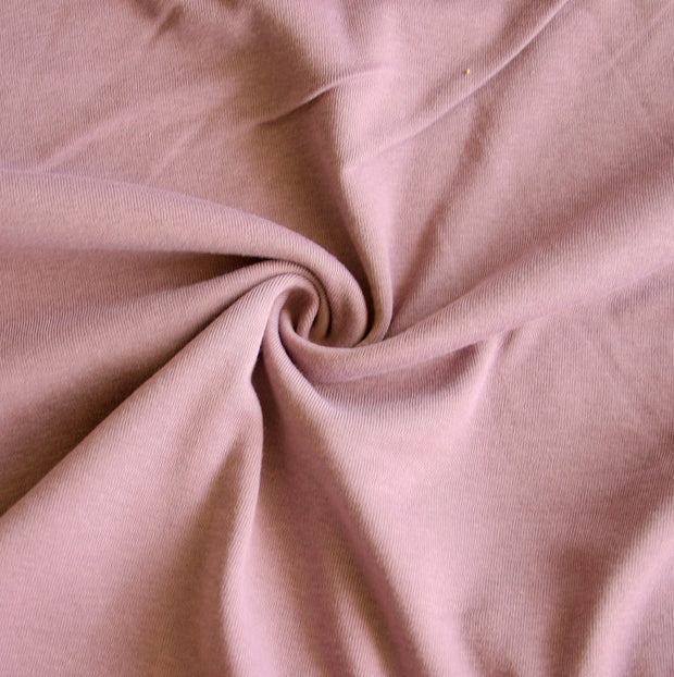 Victorian Purple Cotton Rib Knit Fabric
