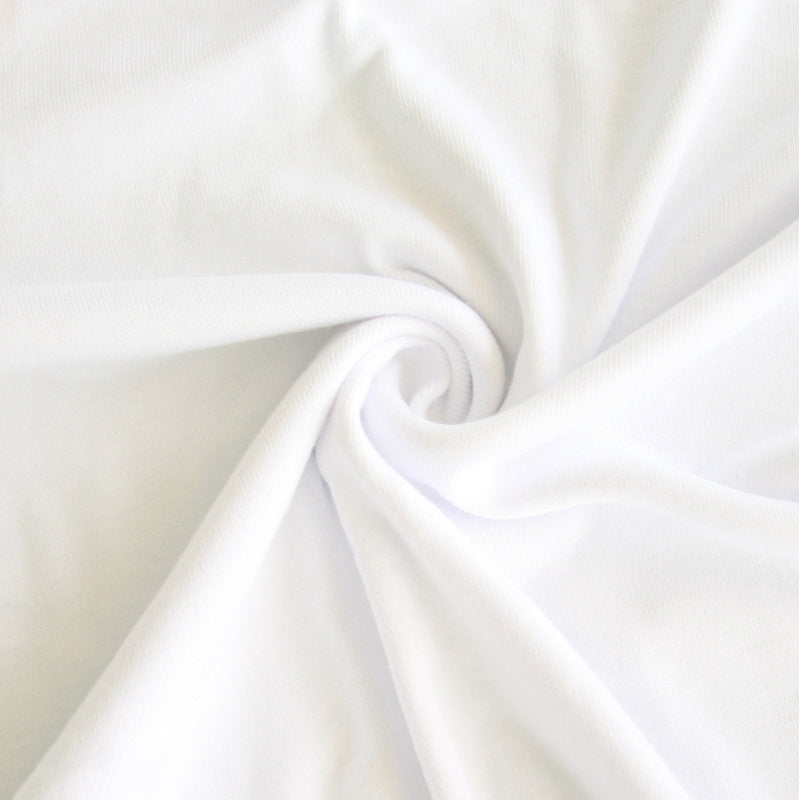501c18410c6 Bright White Cotton Baby Rib Knit Fabric. Share on: Share Share on Facebook  Tweet Tweet on Twitter Pin it Pin on Pinterest