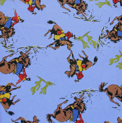 Ride 'em Cowboy Cotton Knit Fabric