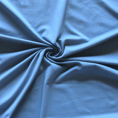 Riverside Blue Bamboo Organic Cotton Spandex Jersey Knit Fabric