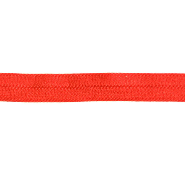 Roma Red Fold Over Elastic Trim