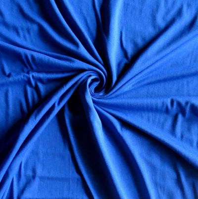 Royal Blue Bamboo Lycra Jersey Knit Fabric