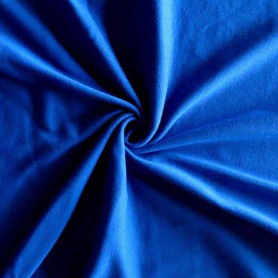 Royal Blue Cotton Rib Knit Fabric