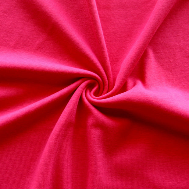 Fuschia Pink Cotton Rib Knit Fabric