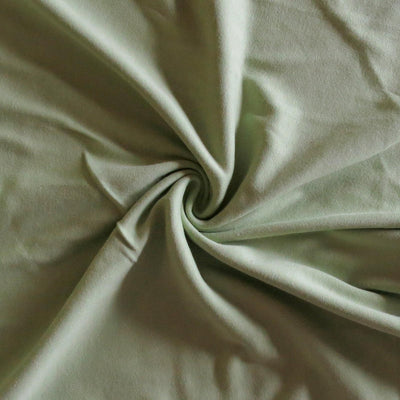 Sage Green Cotton Interlock Knit Fabric