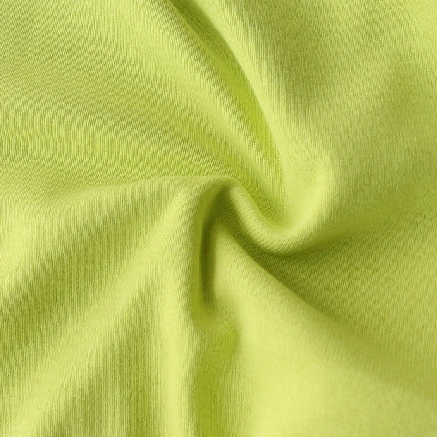 Sage Green Cotton Rib Knit Fabric