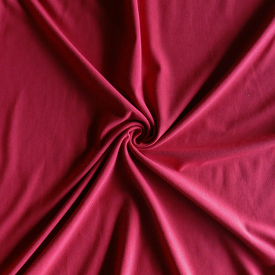 Scarlet Bamboo Organic Cotton Spandex Jersey Knit Fabric