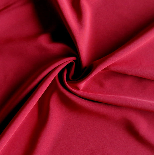 Scarlet Stretch Woven Fabric