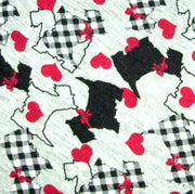 Scottie Dogs Love Knit Fabric