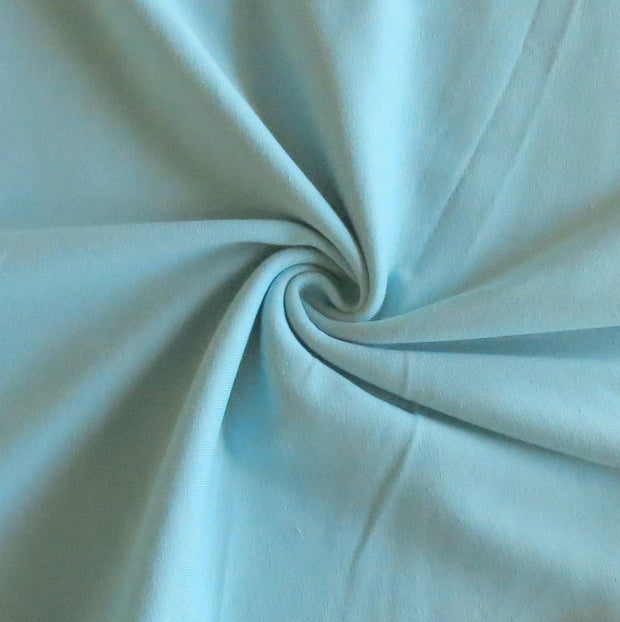 Seafoam Cotton Heavy Rib Knit Fabric