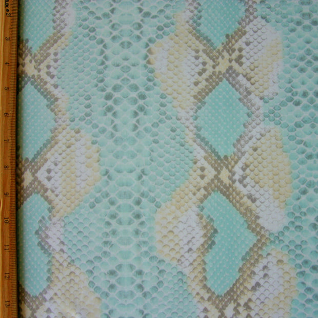 Seafoam Python Nylon Lycra Swimsuit Fabric