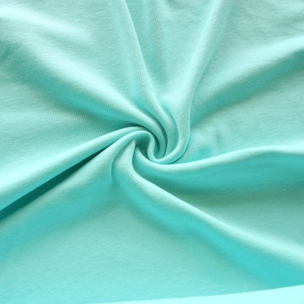 Seafoam Cotton Rib Knit Fabric