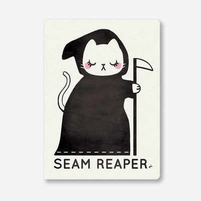 """Seam Reaper"" White A5 Journal by CraftedMoon"
