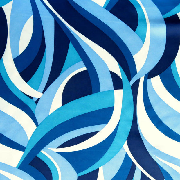 Shades of Blue Abstract Microfiber Boardshort Fabric