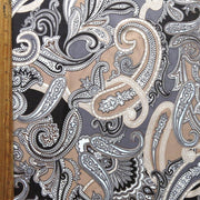 Shades of Brown Paisley Nylon Spandex Swimsuit Fabric
