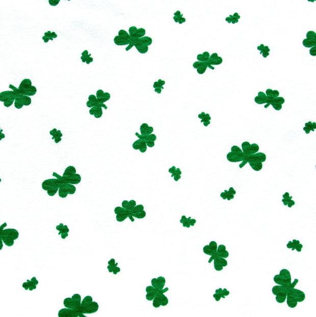 Shamrocks Cotton Rib Knit Fabric