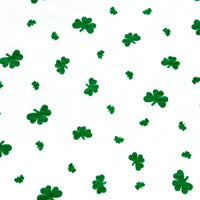 Shamrocks Cotton Lycra Jersey Knit Fabric