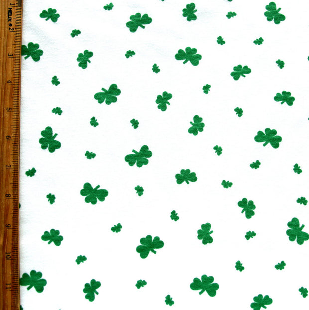 Shamrocks Cotton Interlock Fabric