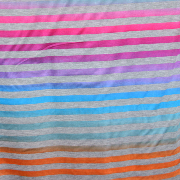 "Shimmer Stripe Knit Fabric - 14"" Remnant Piece"