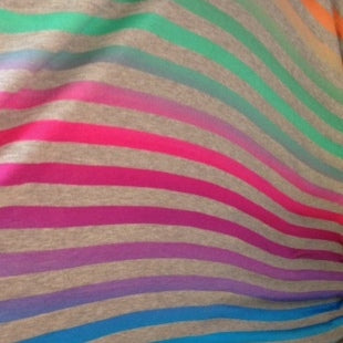 Shimmer Stripe Knit Fabric