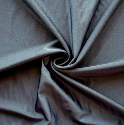 Shiny Charcoal Nylon Lycra Swimsuit Fabric