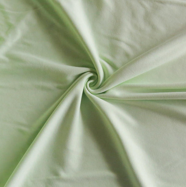 Shy Green Cotton Interlock Fabric