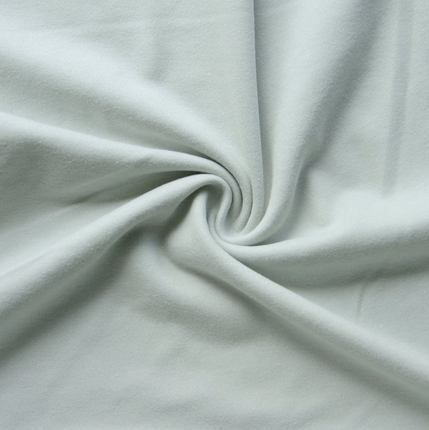Silver Cotton Interlock Fabric