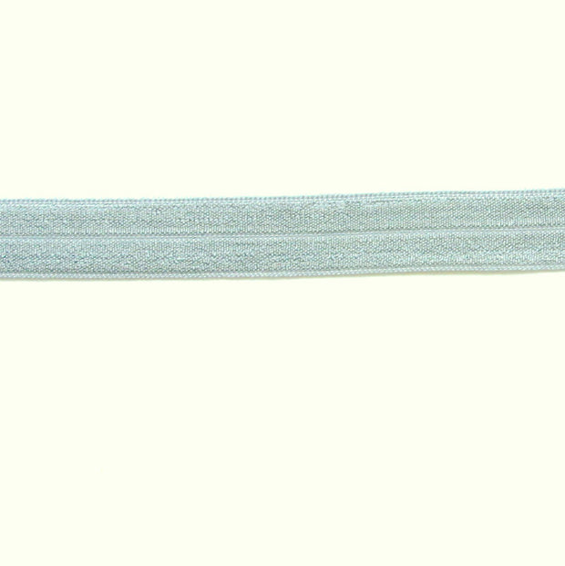 Silver Grey Fold-Over Elastic Trim