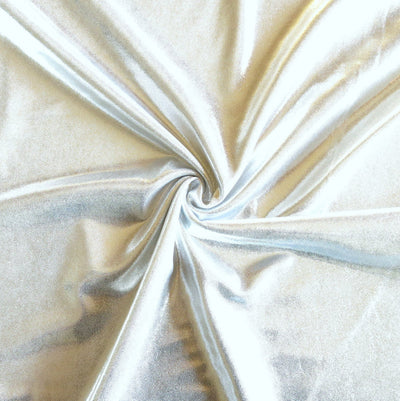 Silver Metallic Nylon Spandex Swimsuit Fabric