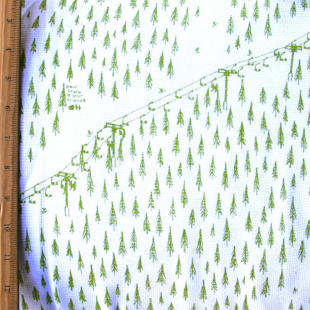 "Ski Lift Cotton Thermal Knit Fabric - 30"" Remnant Piece"