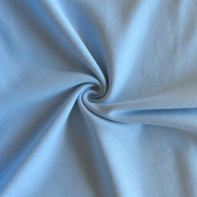 Slate Blue Cotton Heavy Rib Knit Fabric