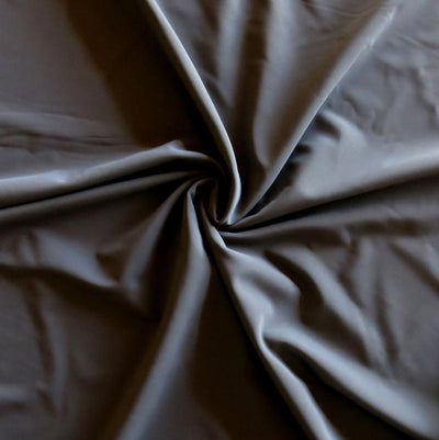 Iron Grey Nylon Spandex Swimsuit Fabric