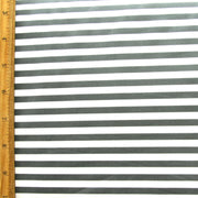 Slate Grey and White Stripe Swimsuit Fabric
