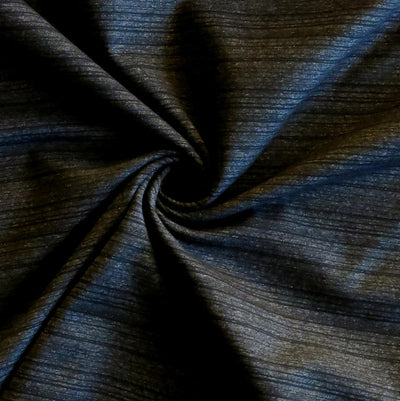Onyx Striped Marl Poly Lycra Jersey Knit Fabric
