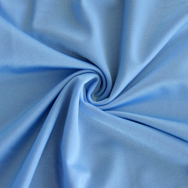Copen Blue Solid Nylon Spandex Tricot Specialty Swimsuit Fabric
