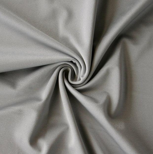 Silver Solid Nylon Spandex Tricot Specialty Swimsuit Fabric