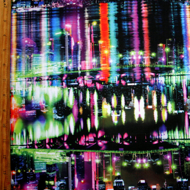 Spectacular Skyline Nylon Spandex Swimsuit Fabric