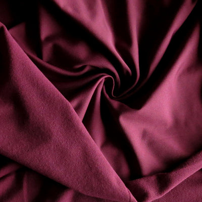 Spiced Plum Dry-Flex Fleece Back Knit Fabric