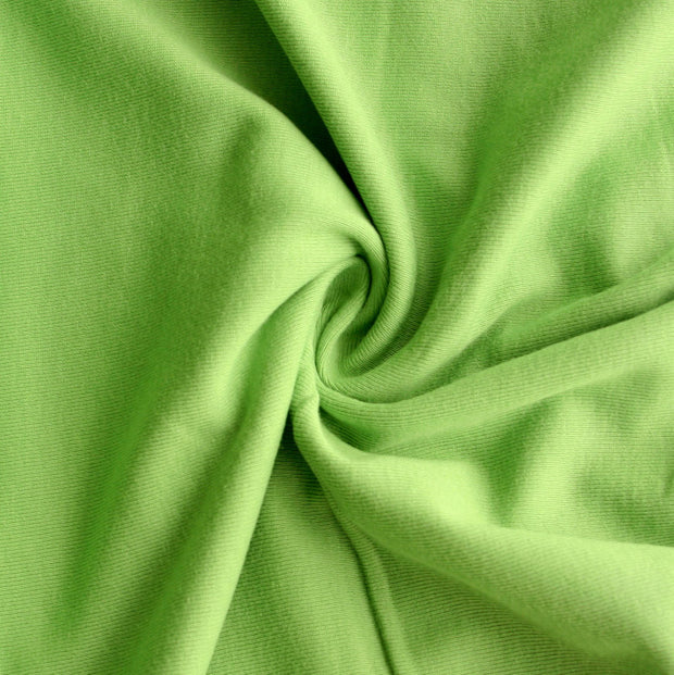 Spring Green Cotton Rib Knit Fabric