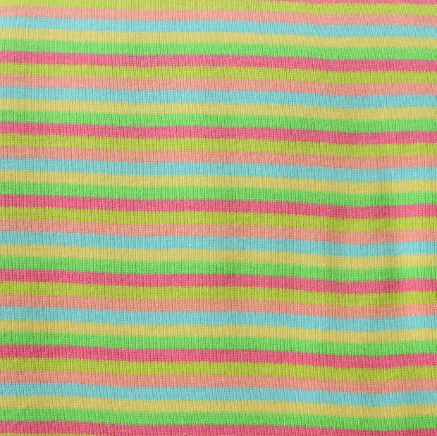 Spring Narrow Stripe Cotton Knit Fabric