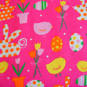 Spring Pink Cotton Knit Fabric